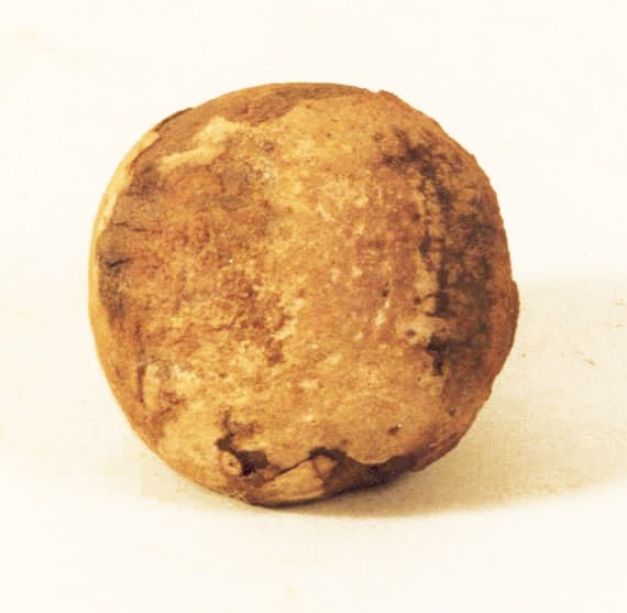 houten bal-vondst op vrijdag