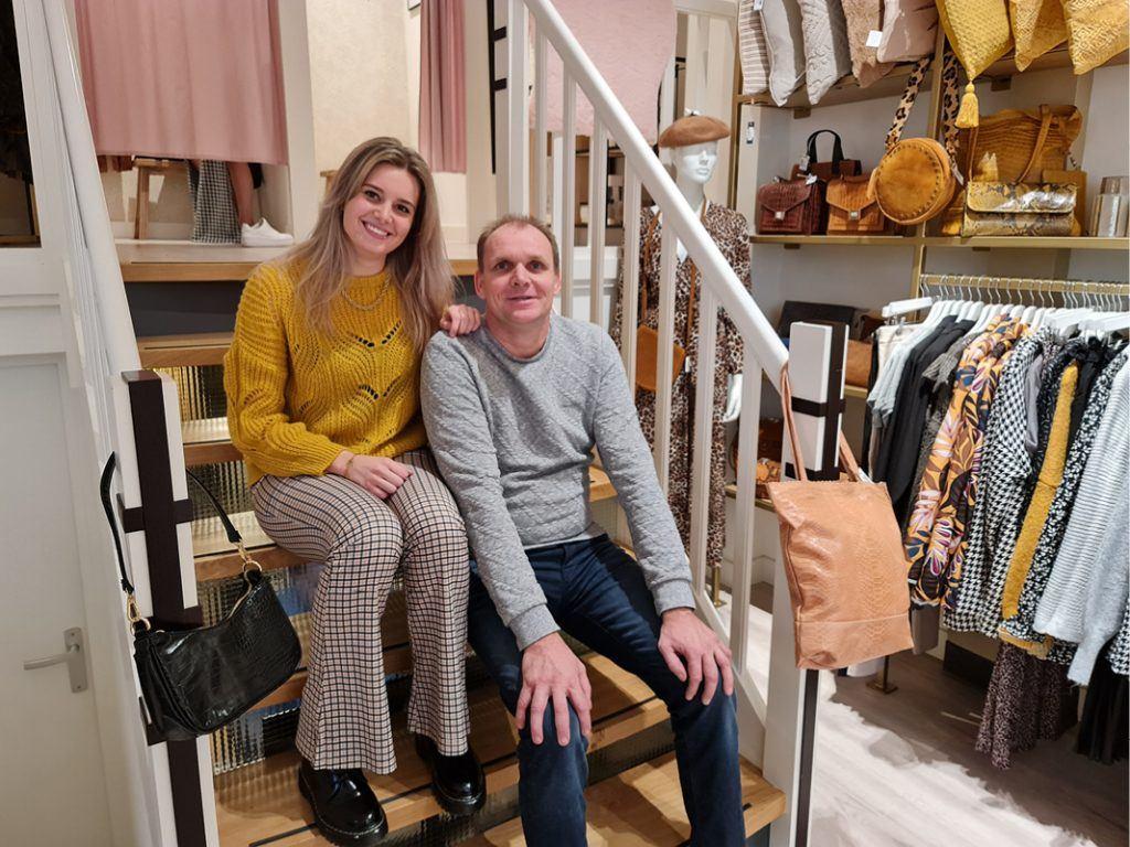 Chiara en Nico Jongbloed in de winkel aan Langestraat 11