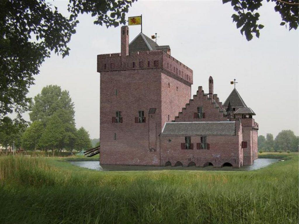 Artist impression kasteel de Middelburg door Remco Cevat