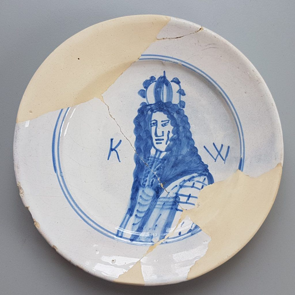 Bord Koning Willem 3