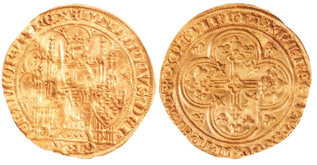Gouden munt gevonden bij een opgraving in 1995 bij Achterdam 26