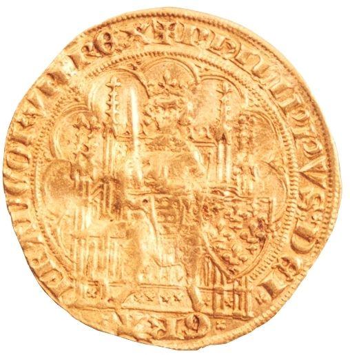 Gouden schild munt voorzijde