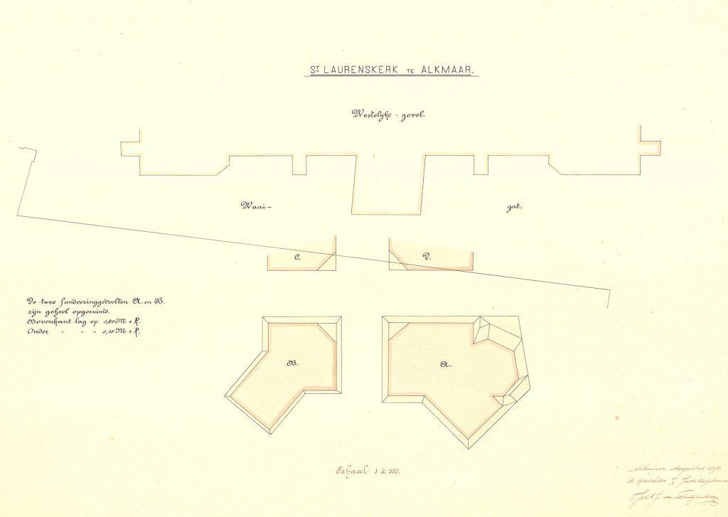 Grote Kerk torenplattegrond 1895