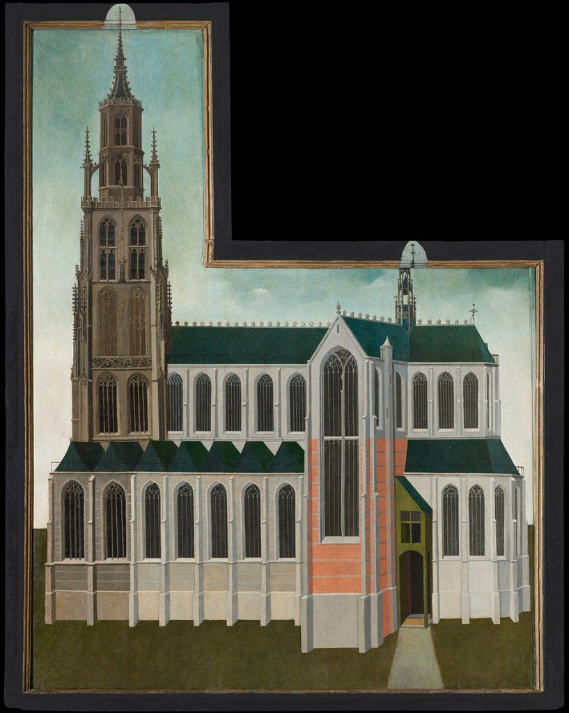 Het kerkportret dat gerestaureerd werd door Martin Bijl en in het boek beschreven is door Judith Niessen.