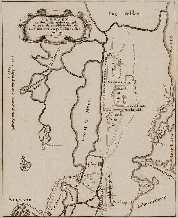 Ligging van de dwangburchten van Floris V ten opzichte van de toen aanwezige waterwegen