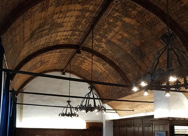 Het houten tongewelf in de consistoriekamer wordt begin volgend jaar onderhanden genomen.