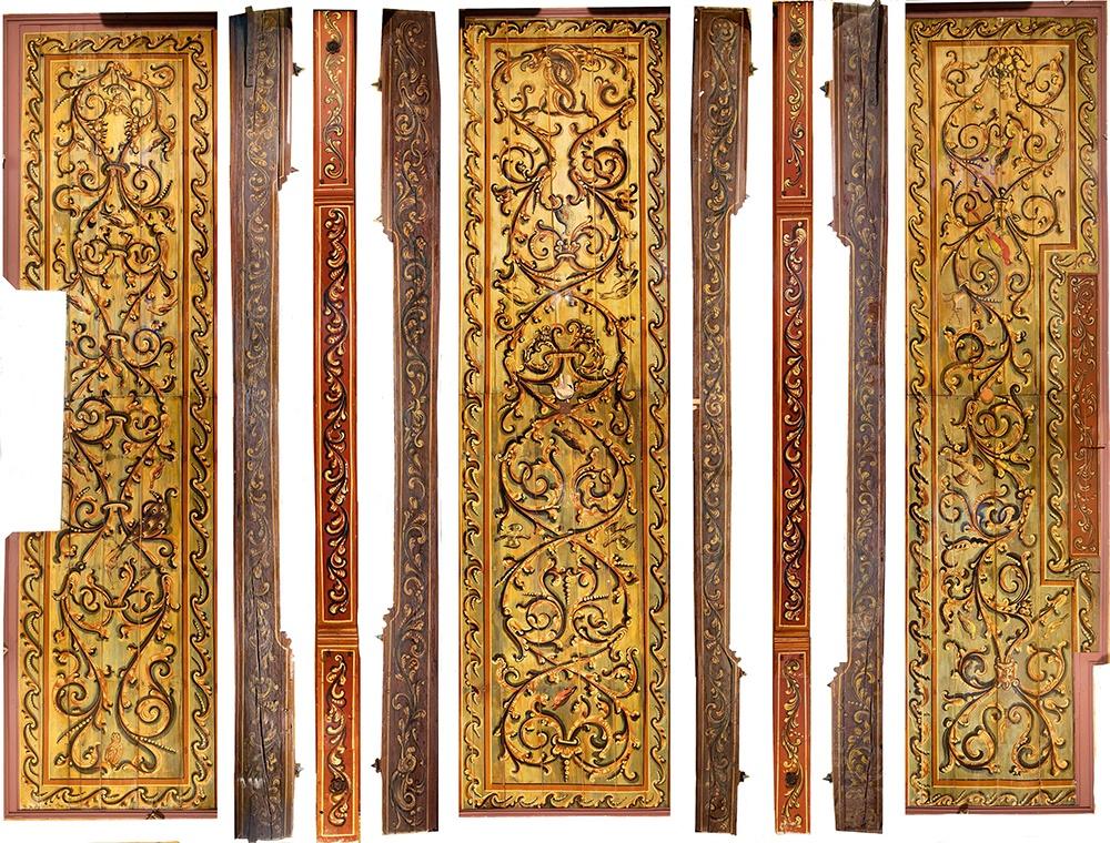 De 'harmonica-view' foto toont ook de zijkanten van de plafond balken in 2D (foto René Gerritsen)