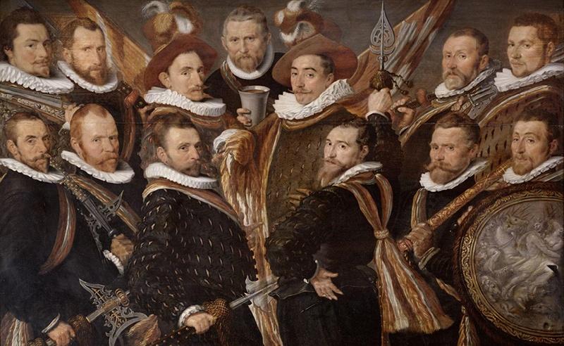 De Jonge Schutterij, 1593, olieverf op paneel, kunstenaar anoniem, Stedelijk Museum Alkmaar.