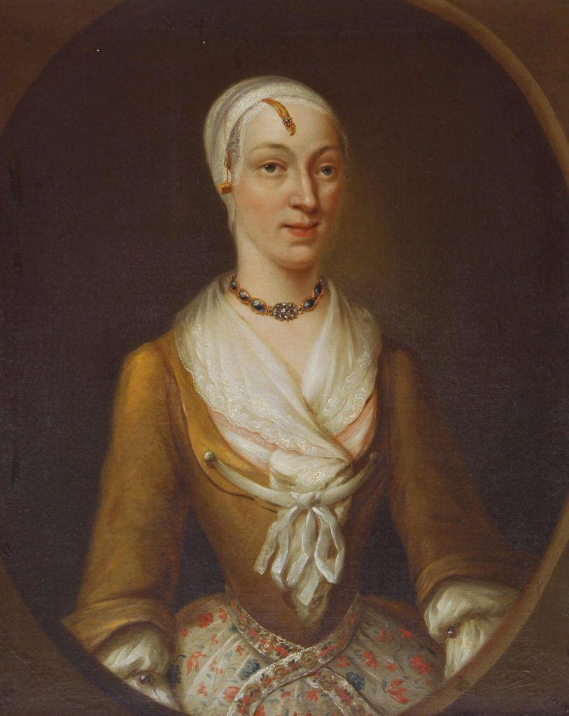 Portret vrouw van Tobias Sydenhagen ca. 1750 anoniem Zaans Museum