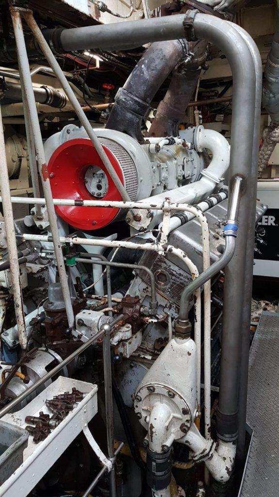 Dienstvaartuig de Bulgia machinekamer