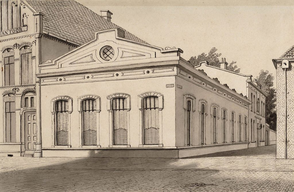Kleuronderzoek Harmonie 1891 prent REJ Roeterink Harmonie