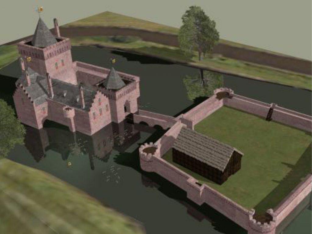 3D reconstructie door Remco Cevat van kasteel de Nieuwburg