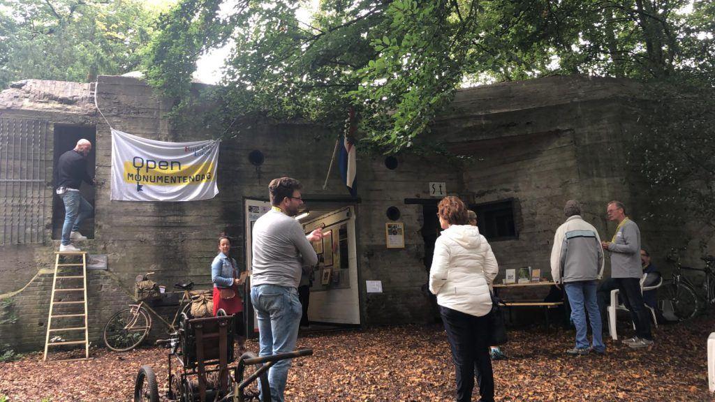Veel belangstelling voor de bunker aan de Wilhelminalaan