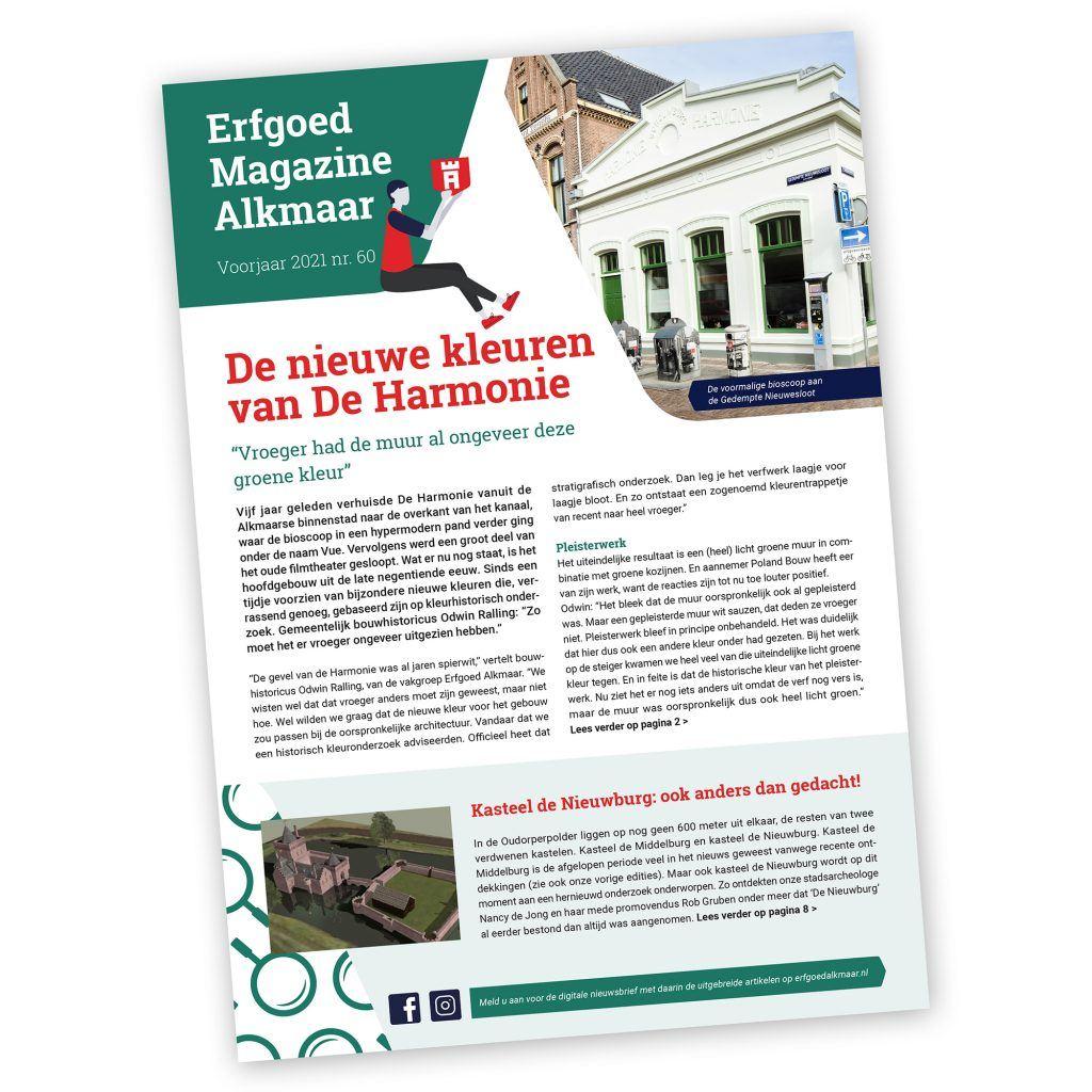 Erfgoed Magazine Alkmaar nr 60